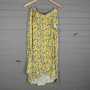 JACHS Girlfriend Flowered Wrap Skirt